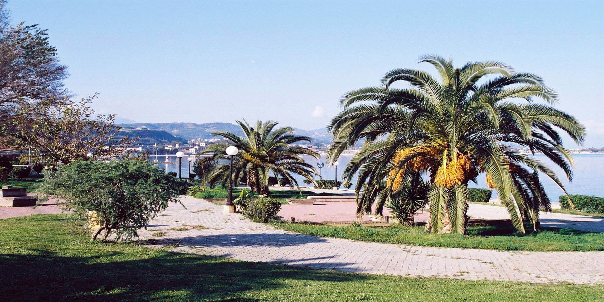 park_with_ palms_in_the_down town_of Egion